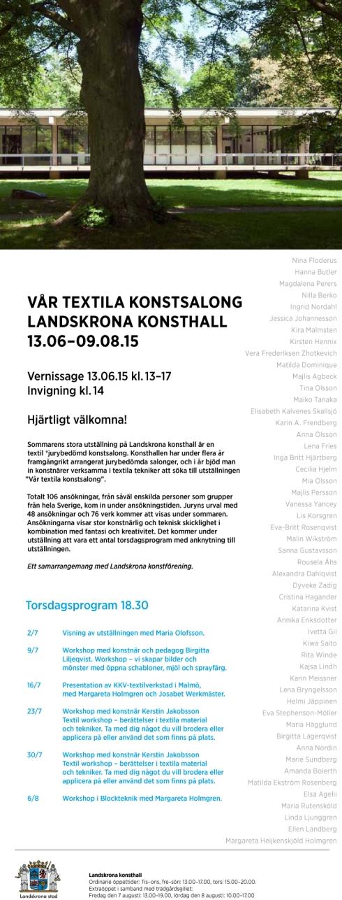 textil konstsalong Landskrona Konsthall